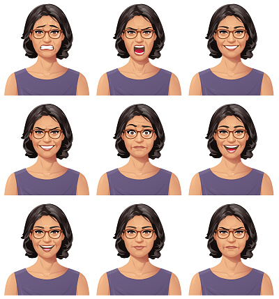 Woman With Glasses Portrait - Emotions