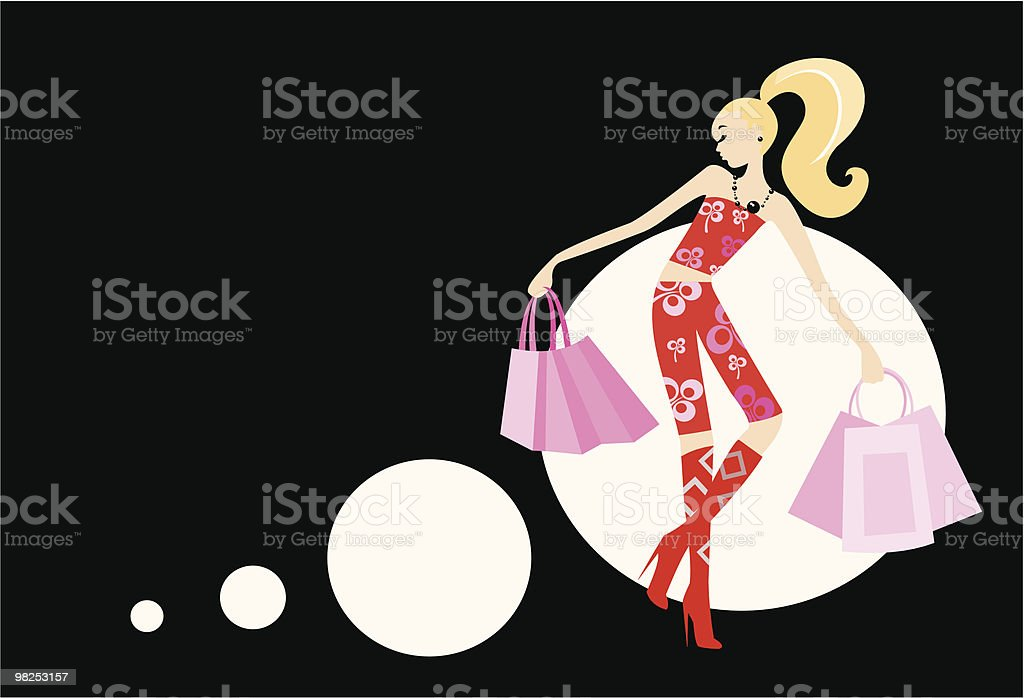 woman with handbags royalty-free woman with handbags stock vector art & more images of adult