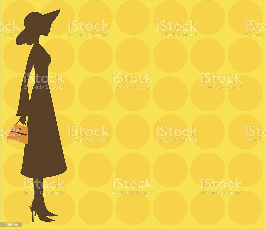 Mujer con sombrero ilustración de mujer con sombrero y más banco de imágenes de 1960-1969 libre de derechos