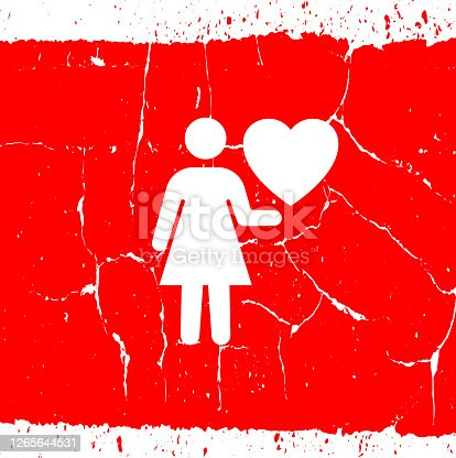 istock Woman with Heart Love Icon 1265644531