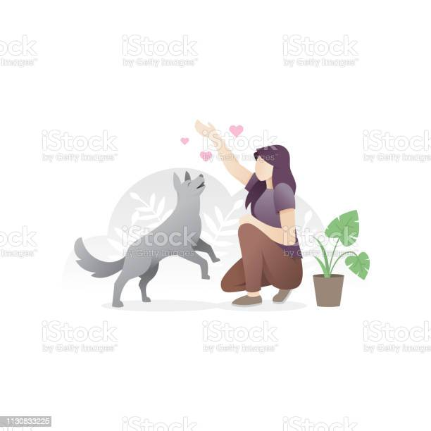 Woman with her pet vector id1130833225?b=1&k=6&m=1130833225&s=612x612&h= lvyv fuewbydj4q8jizpbhcxna 7cxezbbkp 1butk=