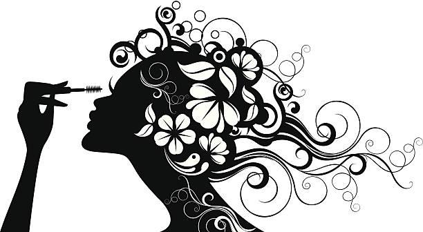 Kobieta z tusz. – artystyczna grafika wektorowa