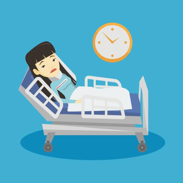 Woman with neck injury vector illustration vector art illustration