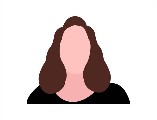 ilustraciones, imágenes clip art, dibujos animados e iconos de stock de mujer sin rostro. concepto de persona desconocida - anonymous red activista