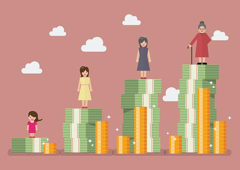 Investment stock illustrations