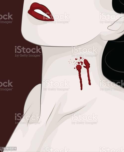 Neck bite marks