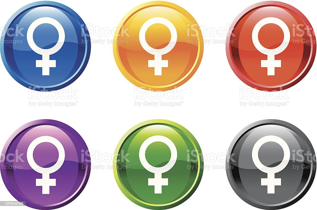 woman woman royalty free vector icon set round buttons royalty-free stock vector art