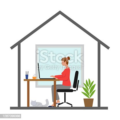 istock Woman working from home 1287096366