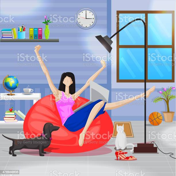 Woman working on laptop sitting in couch vector id476946835?b=1&k=6&m=476946835&s=612x612&h=nuibbw9de2uwzwsg7bje8rdh6hhb2eh61hlc2dd5 9a=