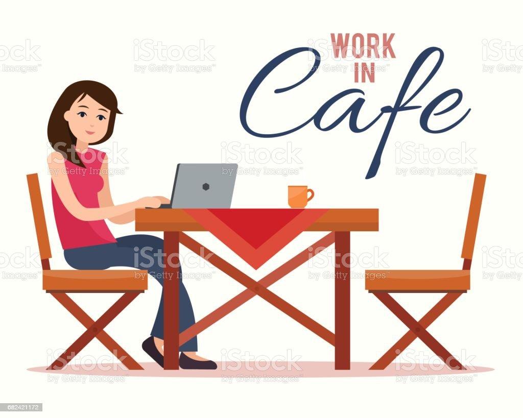 Femme travaillant sur un ordinateur portable  femme travaillant sur un ordinateur portable – cliparts vectoriels et plus d'images de activités de week-end libre de droits