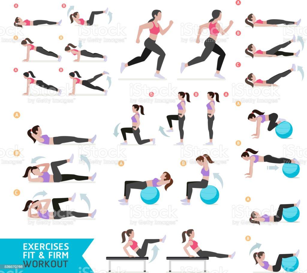 Connu Femme Exercice Bonne Forme Des Cours Daérobic Et Dexercices Stock  JN92