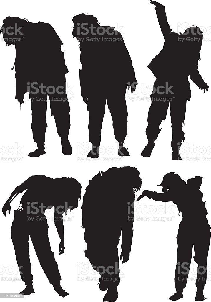 woman zombie vector royalty-free stock vector art