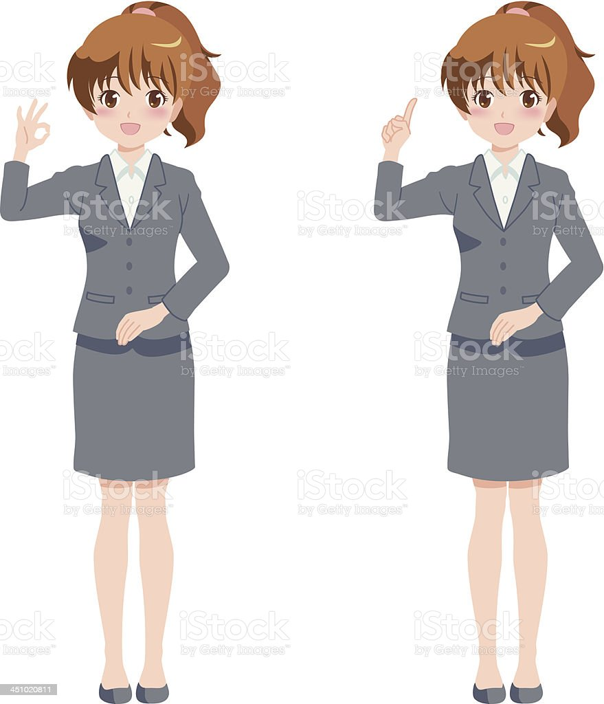 woman_business royalty-free stock vector art