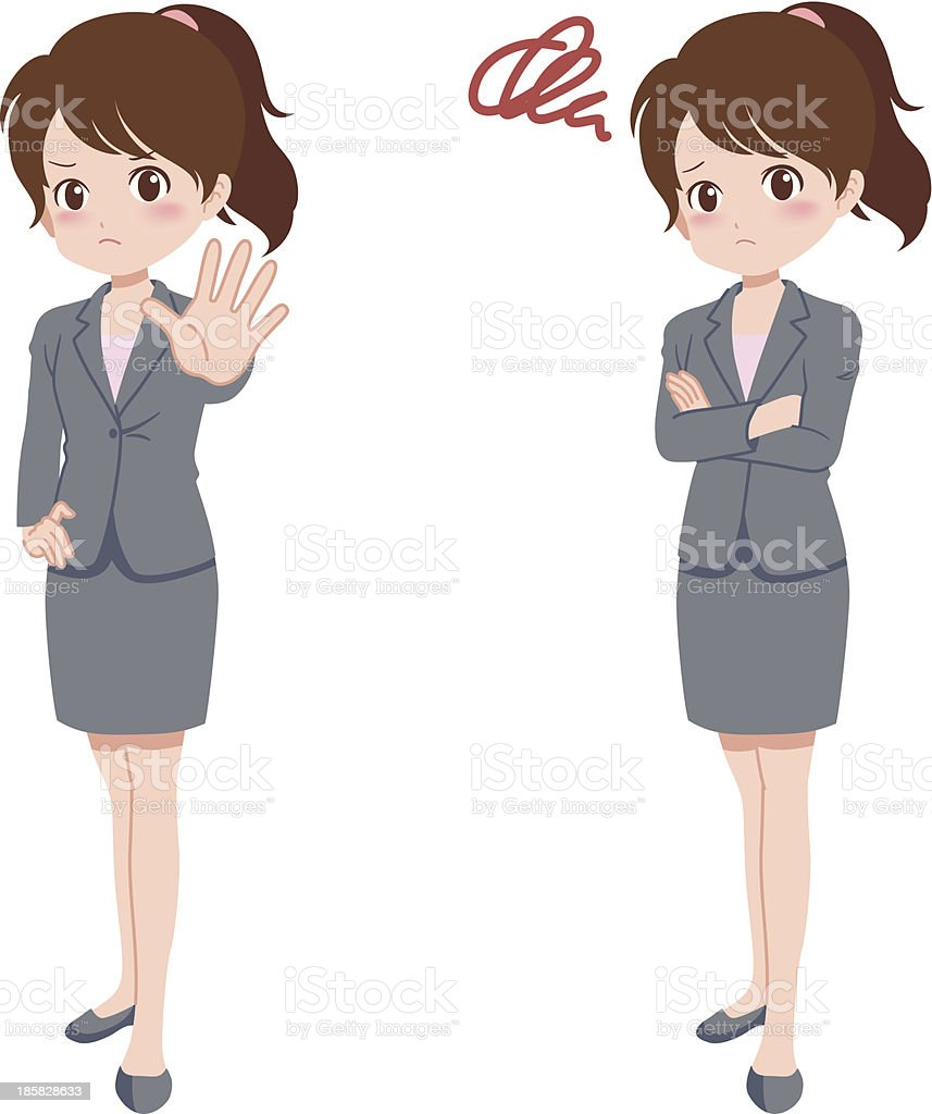 woman_pose royalty-free stock vector art