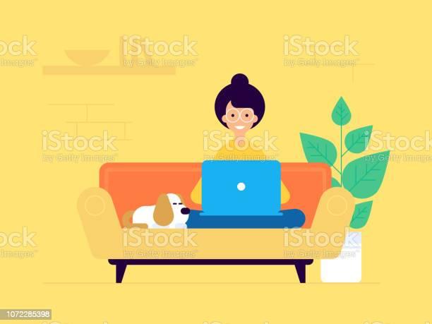 Womanfreelancer Copy - Stockowe grafiki wektorowe i więcej obrazów Biznes