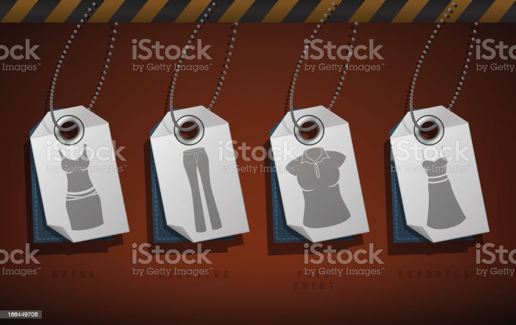 Woman's Clothing royalty-free stock vector art