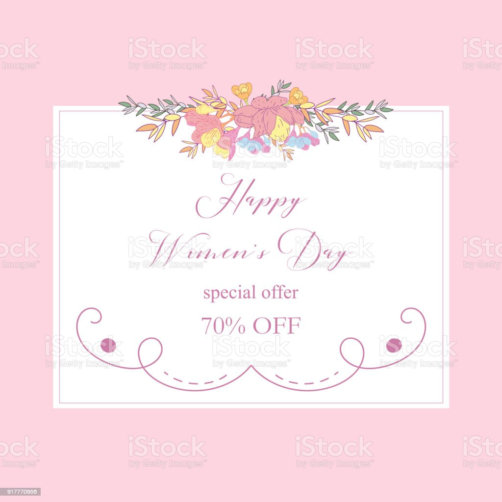 womans day collection sale bannerssale discount 8 march happy women s day poster - Discount Greeting Cards