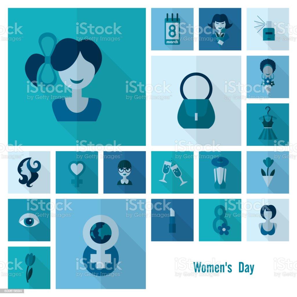 Women's Day-Icon-Set – Vektorgrafik
