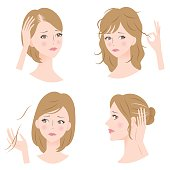 woman's hair problems