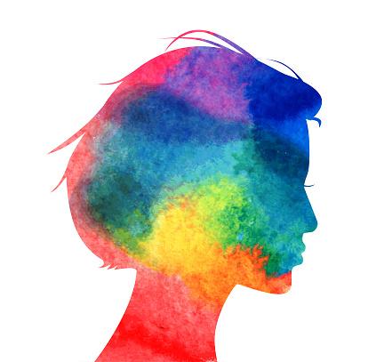 Womans Head Profile