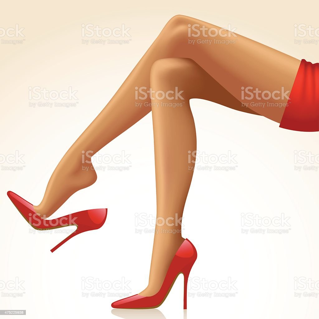 Woman's legs vector art illustration