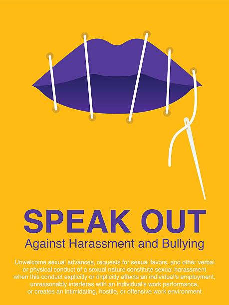 illustrazioni stock, clip art, cartoni animati e icone di tendenza di woman's lip sewing. stop violence against women concept. - violenza donne