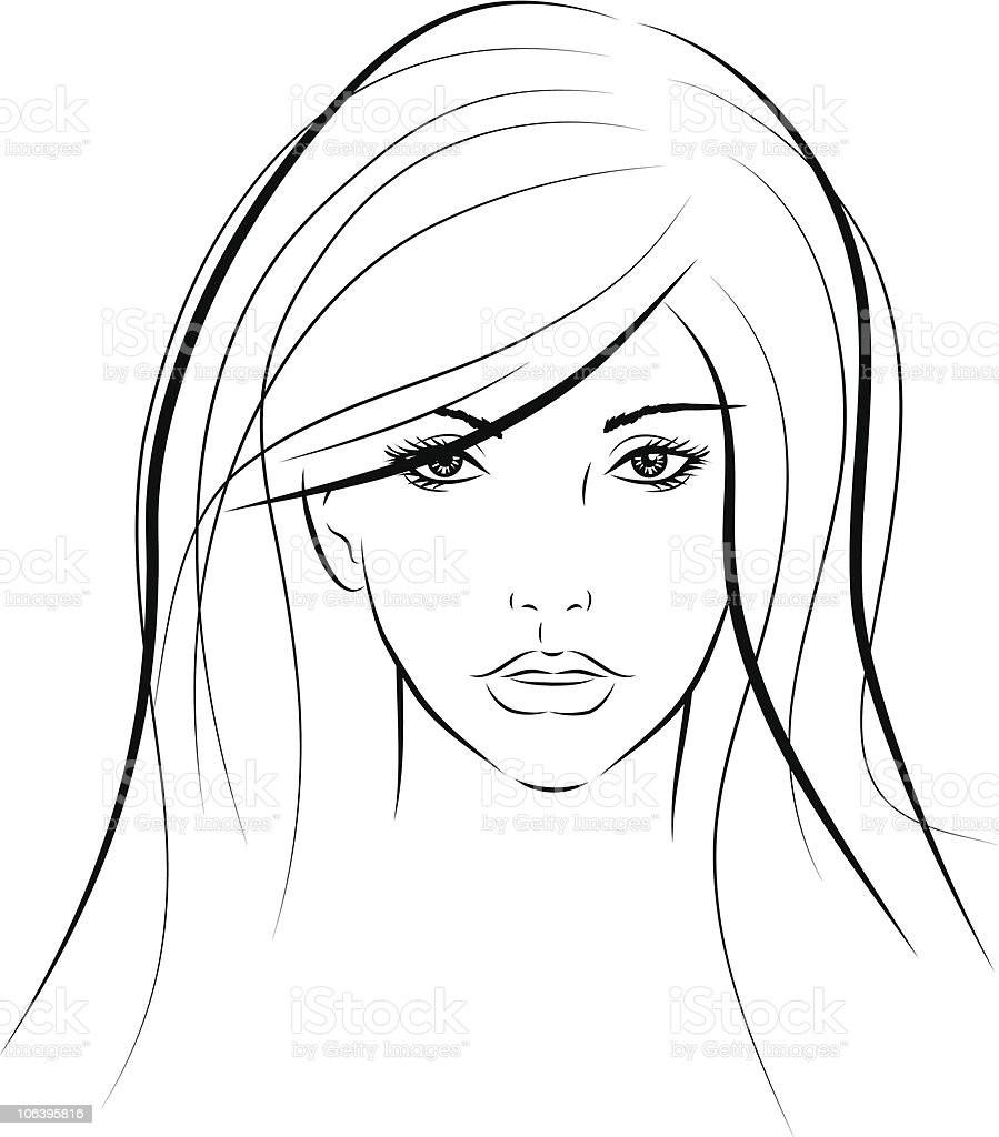 womans portrait royalty-free stock vector art