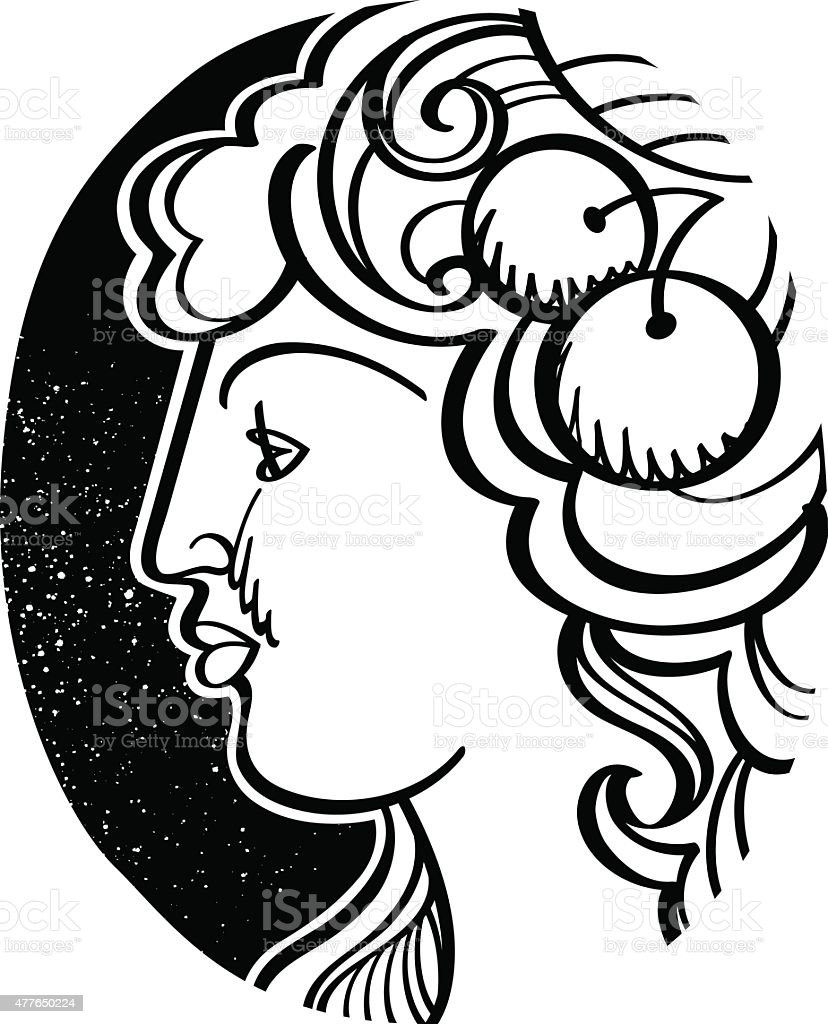 Womans profile demeter ancient greek goddess stock vector art more womans profile demeter ancient greek goddess royalty free womans profile demeter ancient greek buycottarizona Image collections