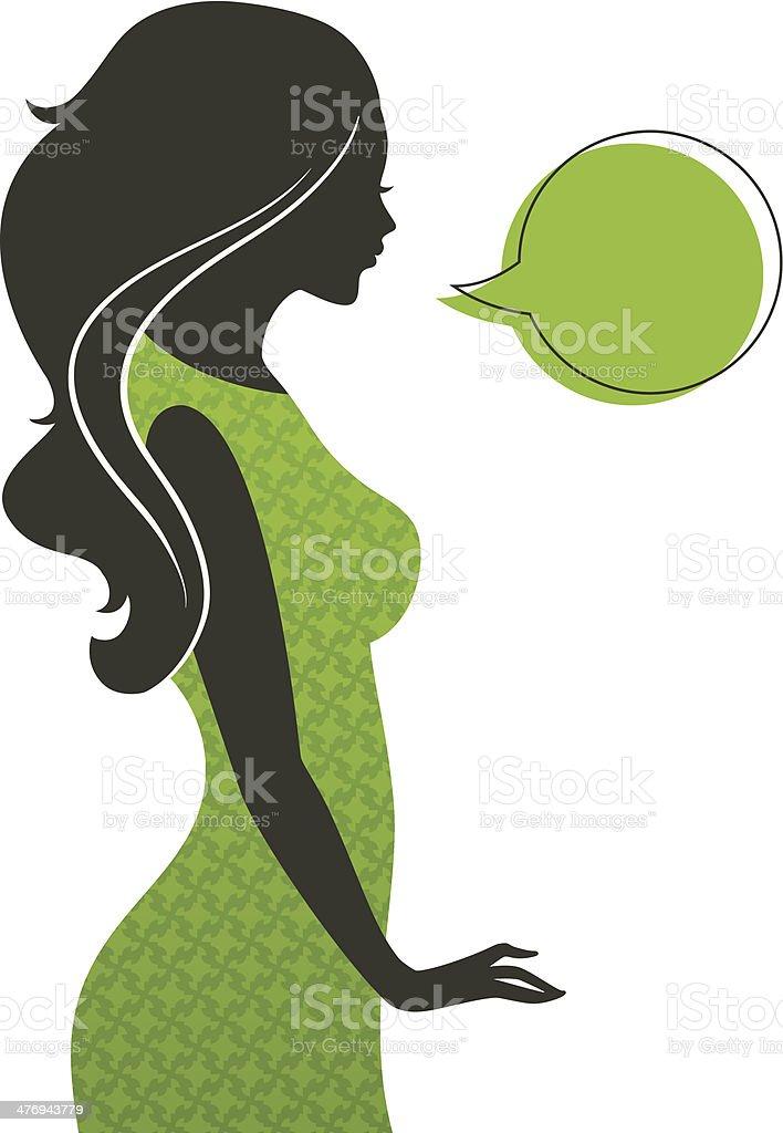 Woman's silhouette vector art illustration