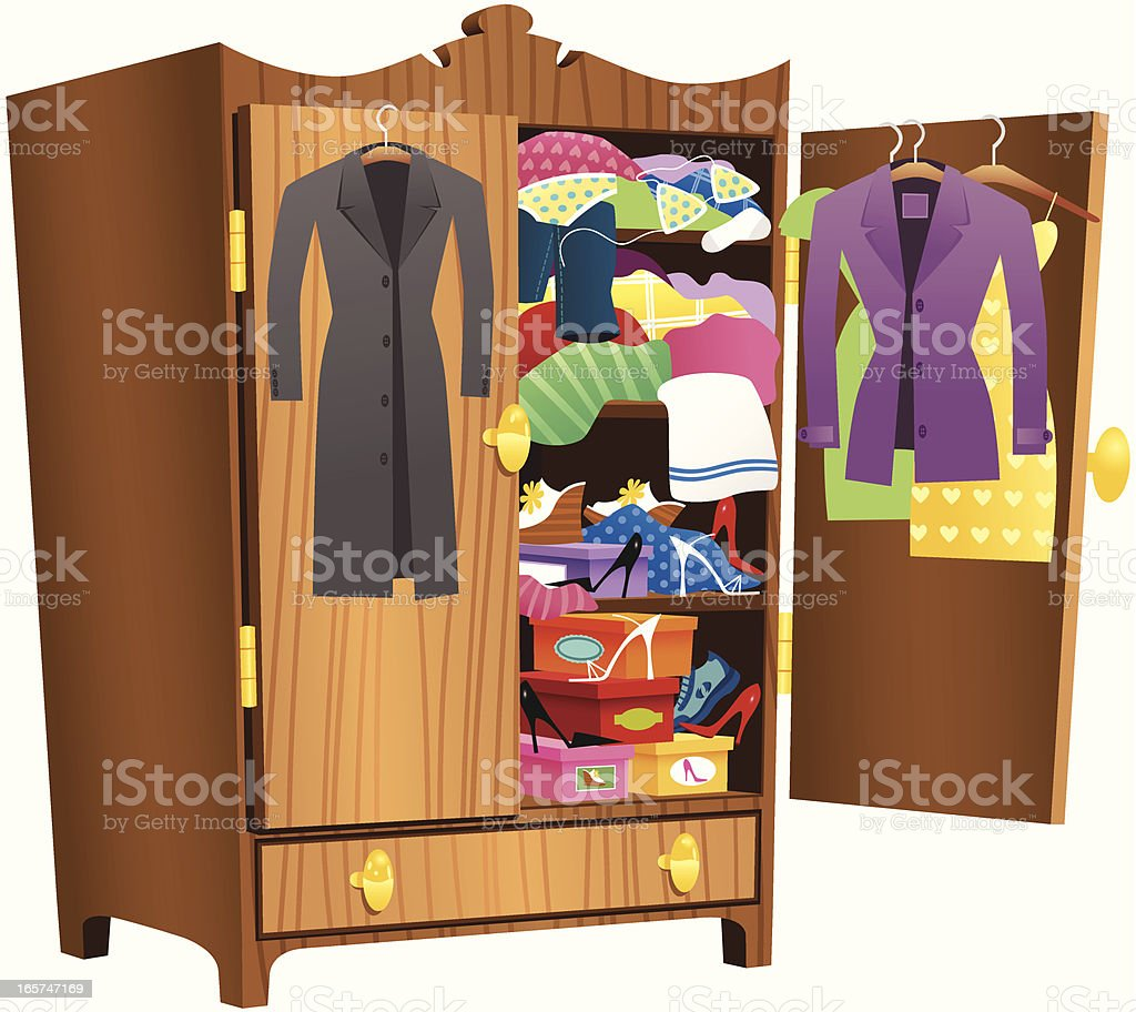 Wardrobe clipart  Royalty Free Coat Hanging Clip Art, Vector Images & Illustrations ...