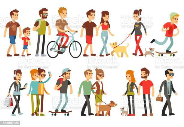 Women and men in various lifestyles cartoon characters vector set vector id678552350?b=1&k=6&m=678552350&s=612x612&h=h4lpjz7tdsiazx8fibgkzzezx9nxkya5q2qk66mtop0=