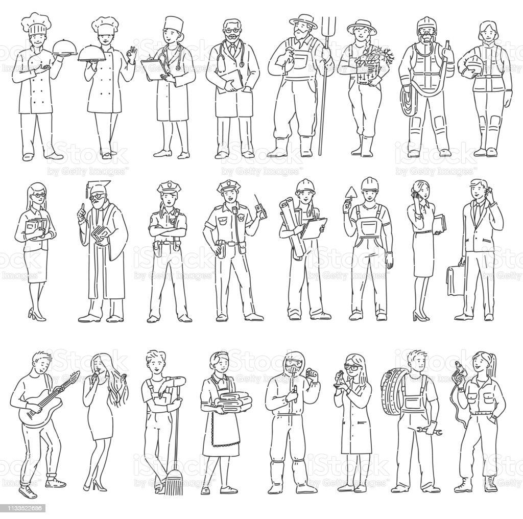 Dia Del Trabajador Mujeres ilustración de trabajadores de mujeres y hombres diferentes