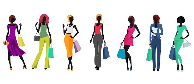 Women and shopping bags.