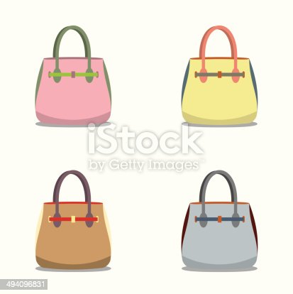 Women Bags Stock Vector Art   More Images of Adult 494096831   iStock 5a701612bc