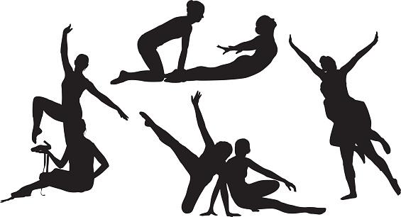 Women ballet dancing