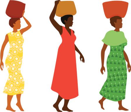 Women Carrying Baskets