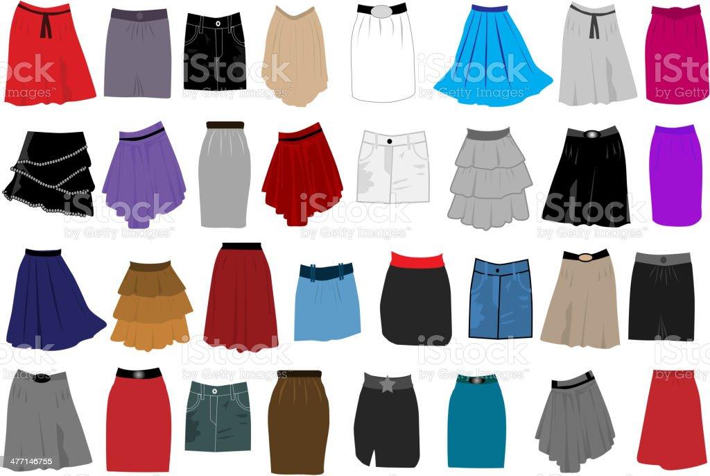 women clothes vector art illustration
