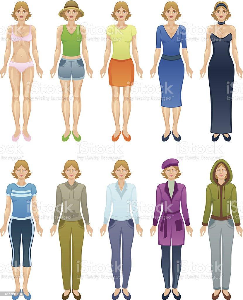 Women clothing vector art illustration