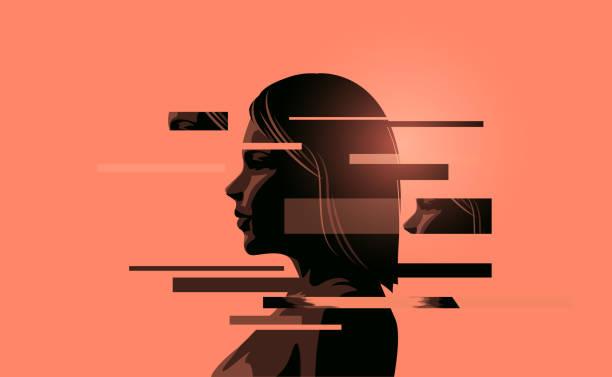 stockillustraties, clipart, cartoons en iconen met vrouwen omgaan met geestelijke gezondheid - psychische aandoening