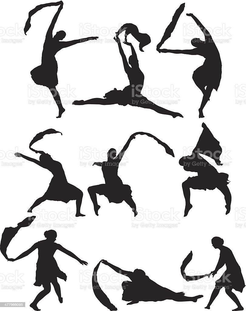 Women dancing royalty-free stock vector art