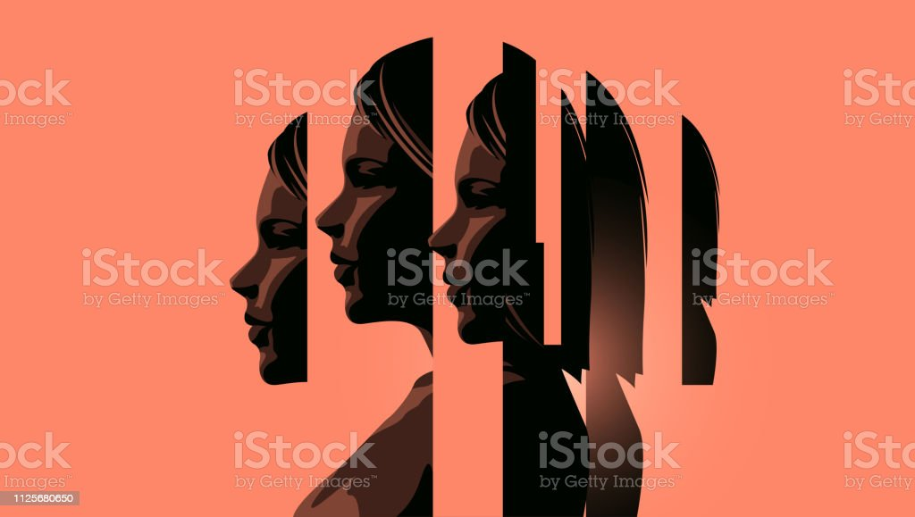 Women Dealing With Mental Health royalty-free women dealing with mental health stock illustration - download image now
