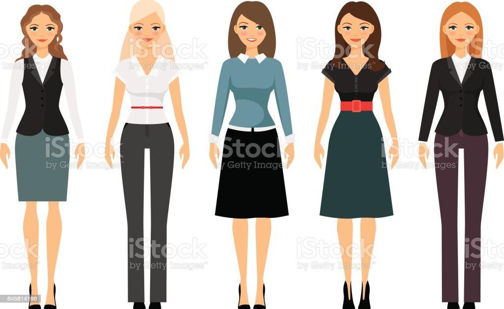 Women Dress Code Illustration Stock Vector Art More Images Of