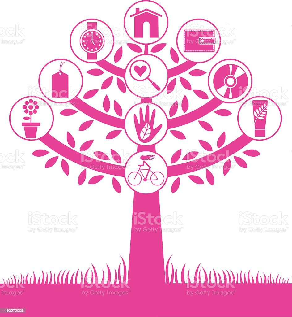 Women equilibrium tree royalty-free stock vector art
