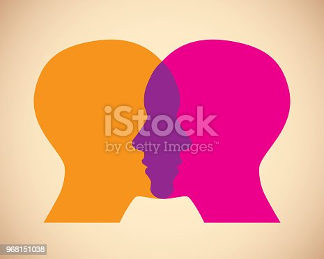 istock Women Faces Overlapping 968151038