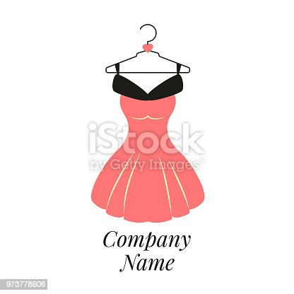 Women Fashion Logo Design Template Dress Emblem Stock Vector Art More Images Of Beauty 973778606