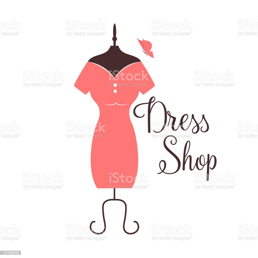 Women Fashion Logo Design Template Dress Emblem Stock Vector Art ...