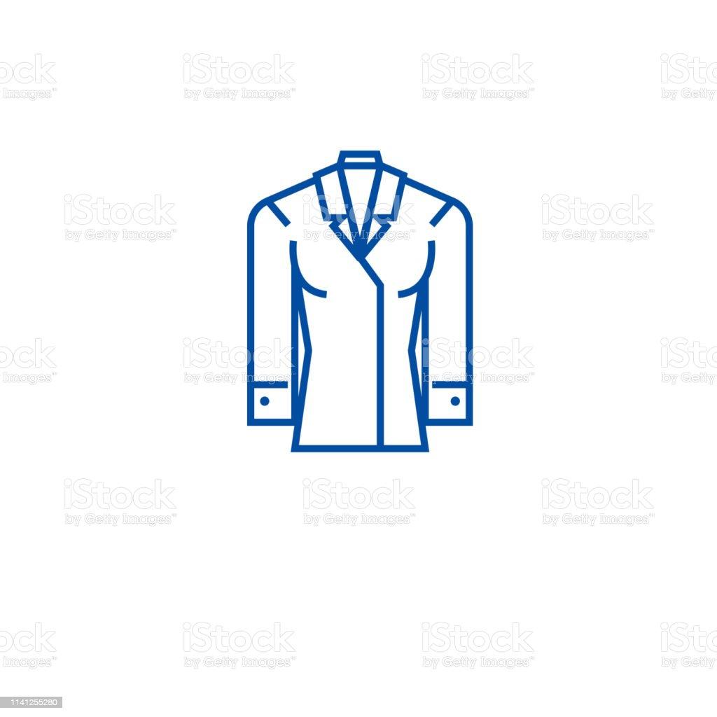 Women formal wear line concept icon. Women formal wear flat vector...