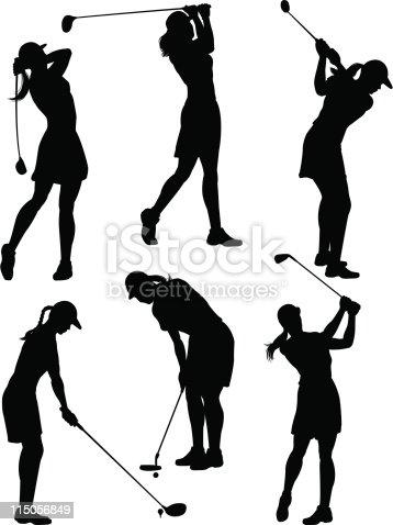 女性ゴルファー�...