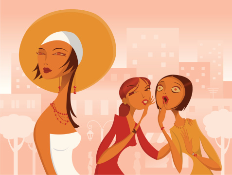 Women Gossiping About Another Stock Illustration - Download Image Now