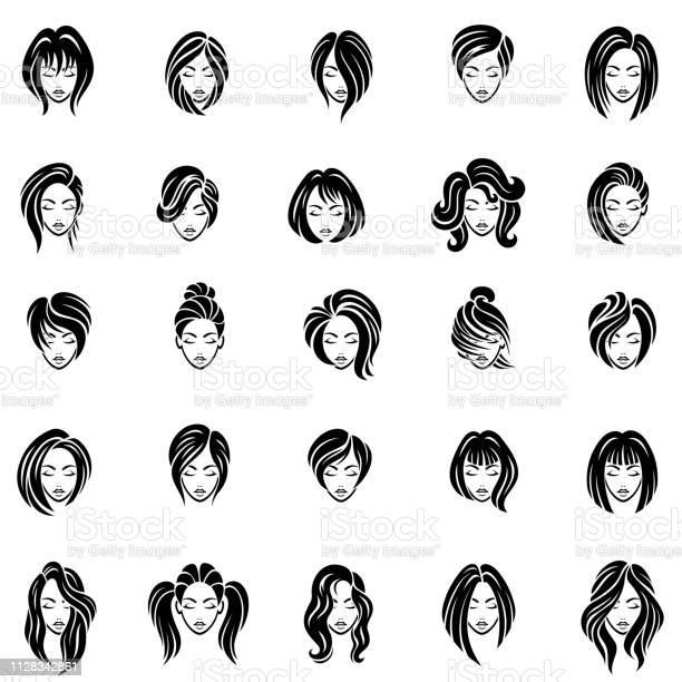 Hairstyle women drawing